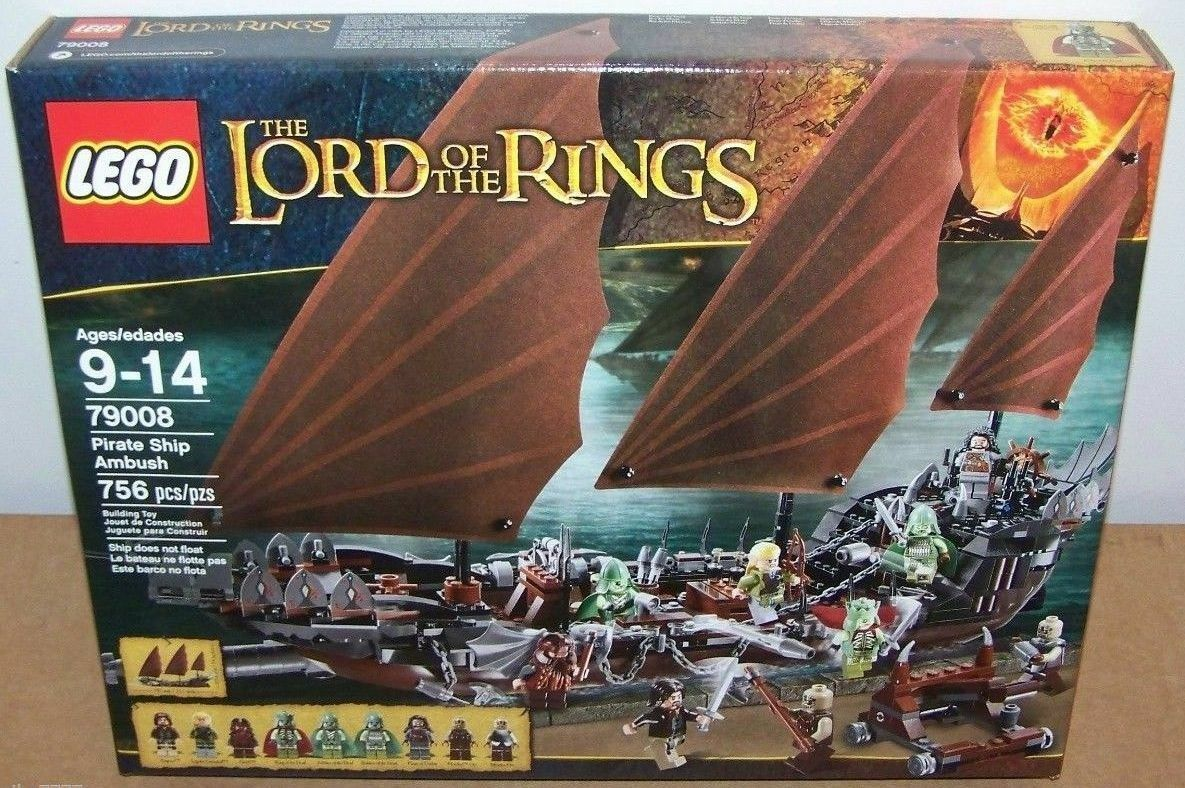 LEGO Lord of the Rings PIRATE SHIP AMBUSH (New) Sealed MIB mint 756 piece