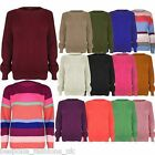 Womens Ladies Chunky Jumper Oversized Sweater Knitted Baggy Top Plus Size 8 - 22