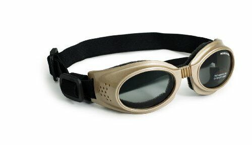 Dog Sunglasses with Polycarbonate Smoke Lens Predects from Wind Debris - Small
