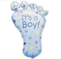 It's A Boy Foot Supershape Mylar Foil Balloon (23 X 32 Inch) - 07688