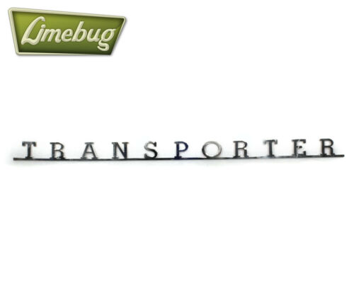 Auto Adhesivo Emblema Cromado Clásico T2 TRANSPORTER VW insignia de script Acero Inoxidable