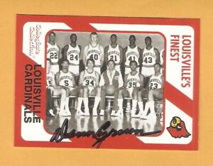 Louisville Cardinals AUTO Signed 1989 Cards Denny Crum Darrell Griffith 1A