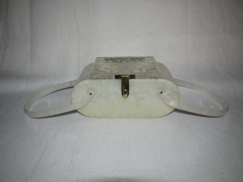 Vintage Florida Handbags Lucite Pearlized / Clear