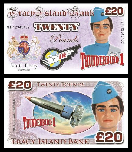 Festa Bolsa Enchimentos Scott Tracy-Thunderbird 1 Novidade notas de banco