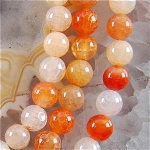 environ 38.10 cm 10 mm Belle Agate crack RONDE pierres précieuses perles 15 in