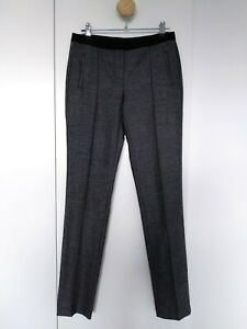Country-Road-Dark-Grey-wool-trim-Tapered-Legs-Pants-Trousers-XXS-AU-4-i5