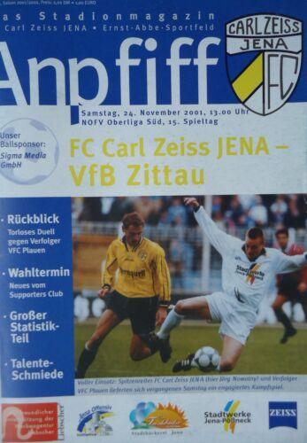 Programm 2001/02 FC Carl Zeiss Jena Sammeln & Seltenes Sport VfB Zittau