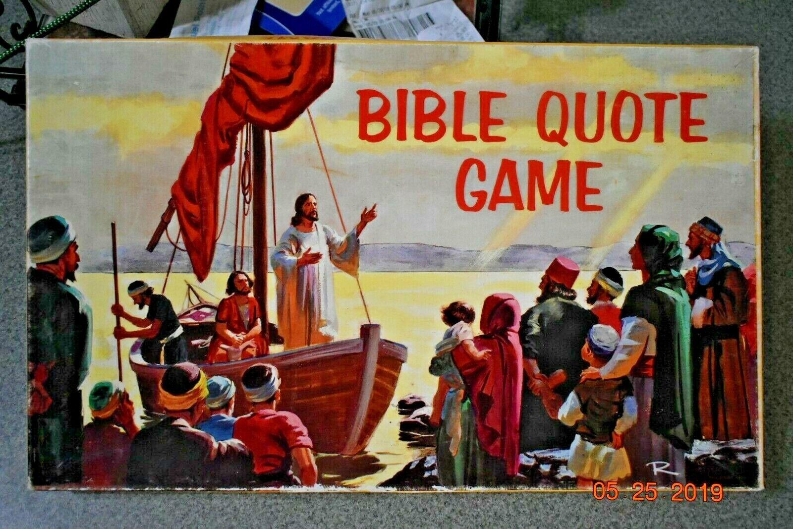 Bibel Zitat Spiel 1969 Brettspiel von Review und Herald Publishing Association
