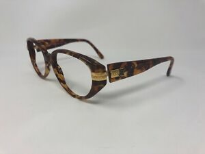 LAURA-BIAGIOTTI-T642-S-Sunglasses-Frame-Italy-Vintage-55-17-135-Brown-Clear-VZ69