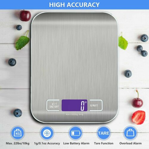 Rechargeable Food Scale Digital Kitchen Multifunction Scale LCD Display Weight