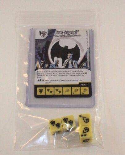 BAT-SIGNAL 4 DICE DC Dice Masters Batman Set RARE Uncommon CUR