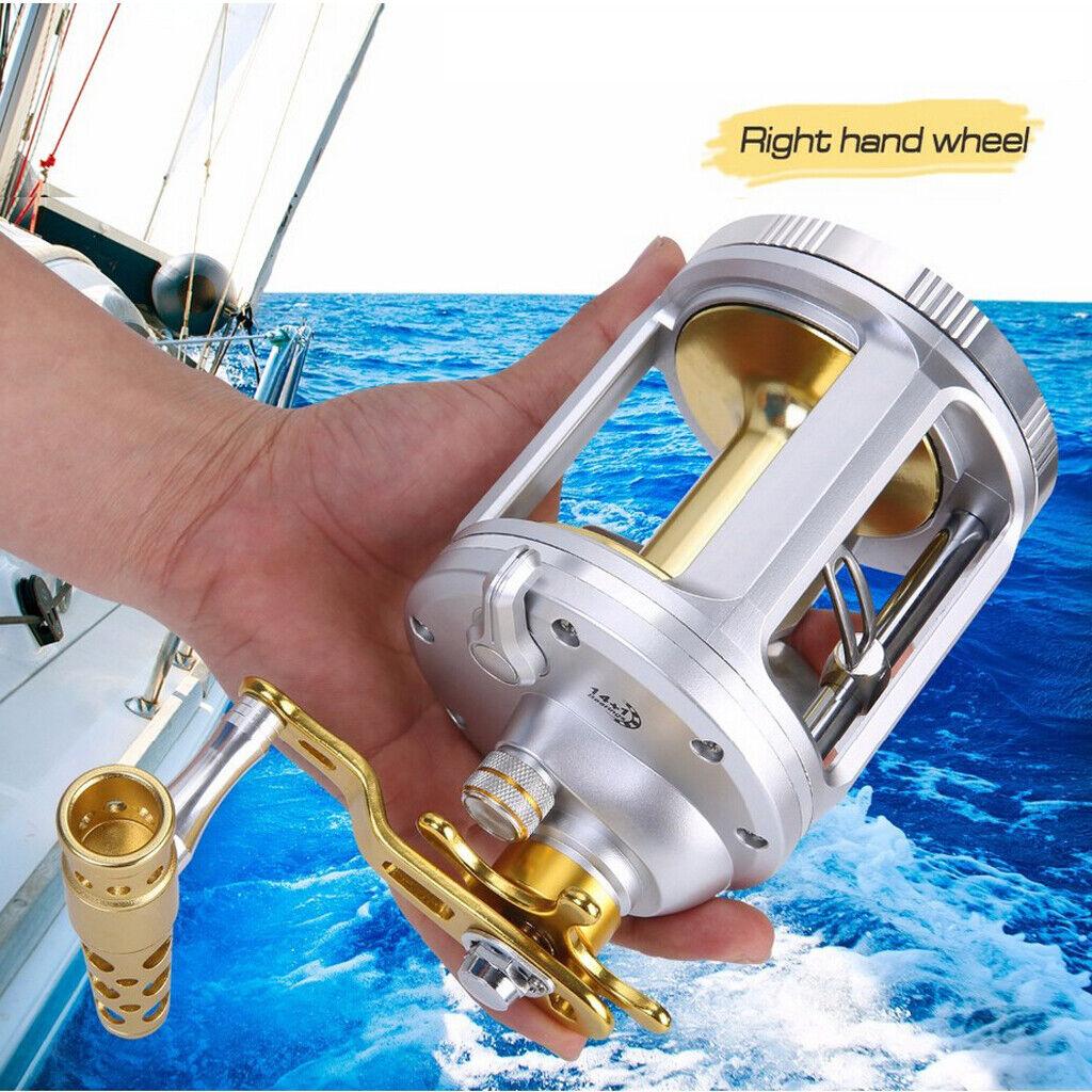Round Baitcasting Trolling Fishing Reel 5.2 1 6.3 1 Gear Ratio Casting Reel