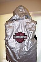 Women's Harley Davidson Reversible Vest With Hood Size Large