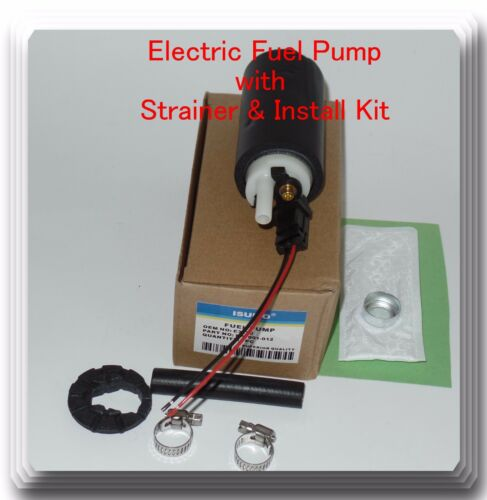 GM Vehicles 1989-2002 Electric Fuel Pump W// Strainer /& Install Kit  Fits
