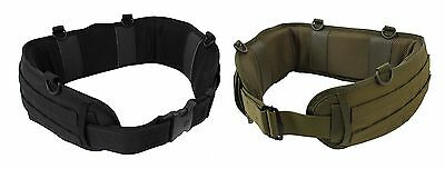 Polyester Battle Belt - D- Ring attachment Points - Black or OD - Med or Large