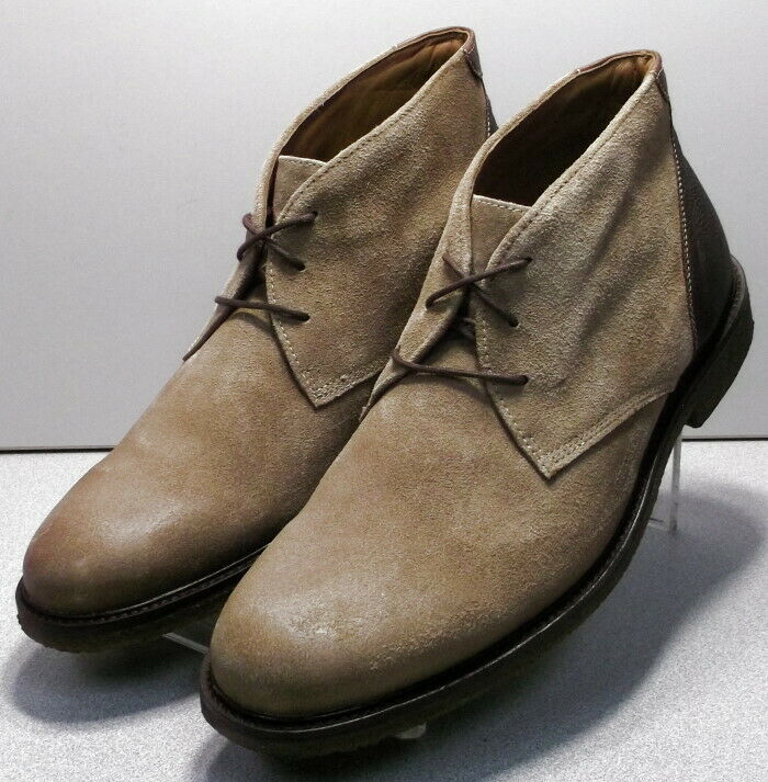 253016 MSBT50 JOHNSTON & MURPHY COPELAND CHUKKA 10.5 M TAUPE OILED SUEDE BOOTS