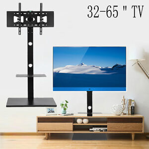 sneakers for cheap aac99 67cd4 Details about TV Floor Stand Mount With Component Multilayer Shelves For  32-65