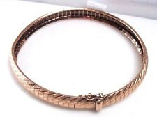 "14k Rose Gold Beautiful Flex Bangle Bracelet 7"" Flexible Design *JUST GORGEOUS*"