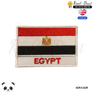 EGYPT-National-Flag-With-Name-Embroidered-Iron-On-Sew-On-Patch-Badge