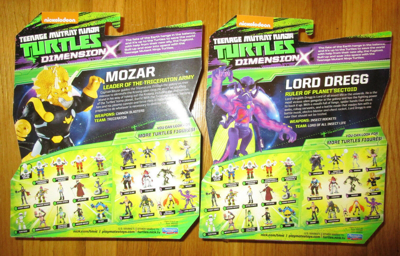 Teenage Mutant Ninja Turtles DIMENSION X MOZAR & LORD DREGG DREGG DREGG FIGURE SET EXCLUSIVE 640d7f
