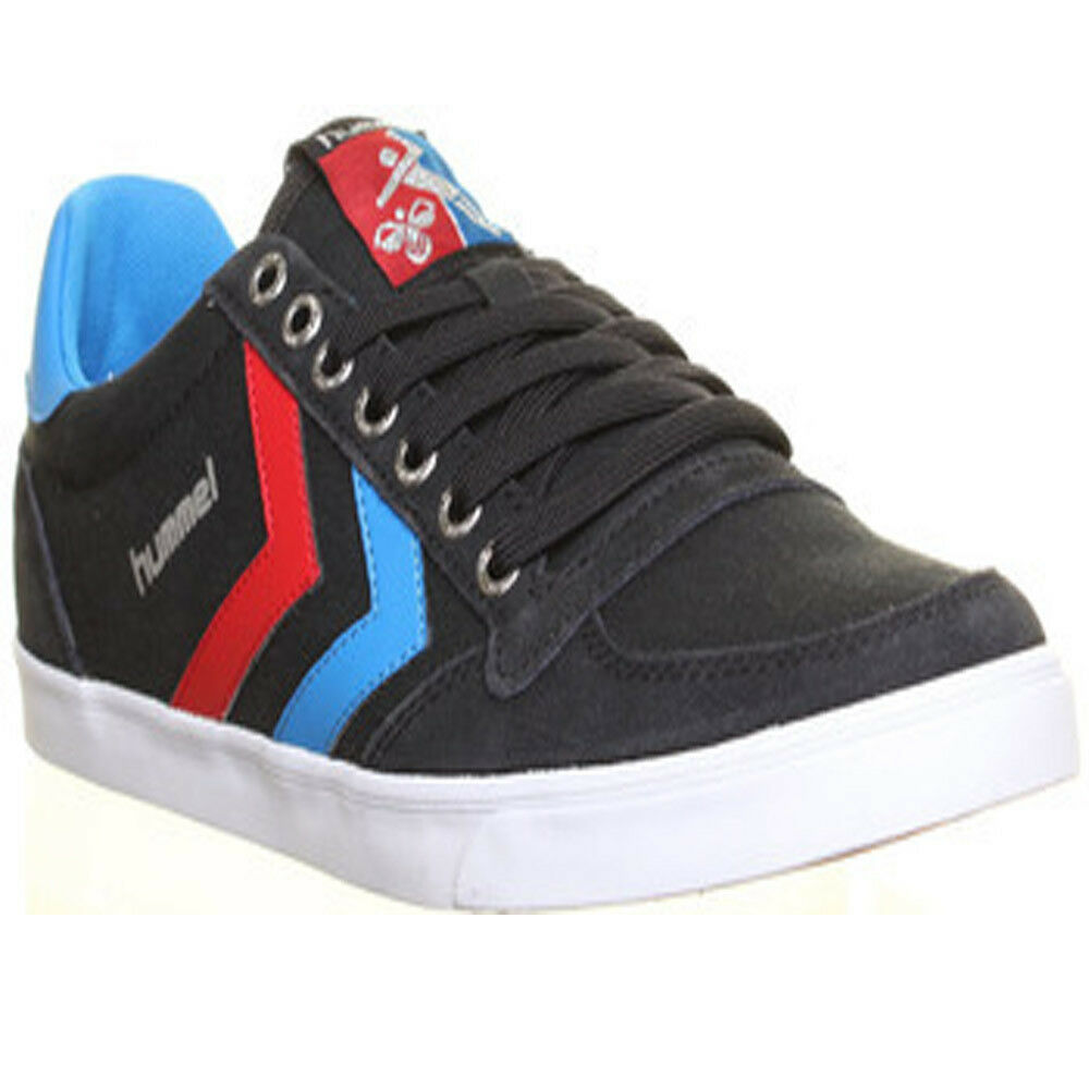 10098 Hummel Slimmer Stadil Niedrig  Uomo Canvas Trainers Lace Up Running