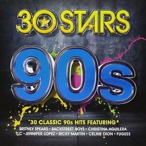 30-STARS-90S-2-CD-NEW-UNPLAYED-Britney-Spears-Whitney-Houston-Run-DMC-TLC