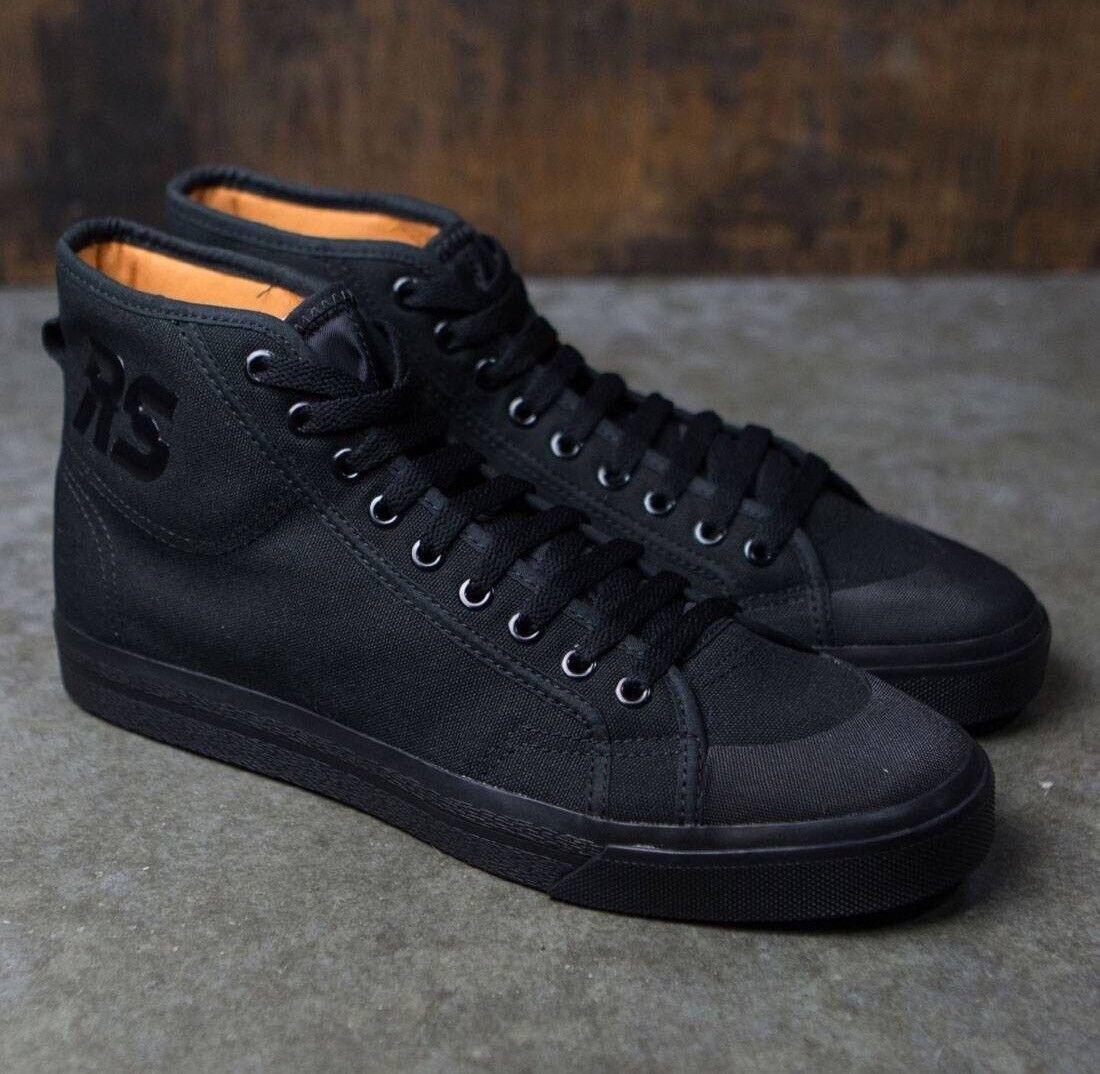 ADIDAS X RAF SIMONS High Top zapatillas Sz 8 Spirit Zapatos Negro S81164 Nuevo