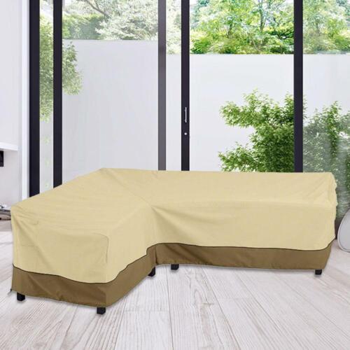 L Shape Garden Corner Furniture Cover Outdoor Sofa Waterproof UV-resistant Cover