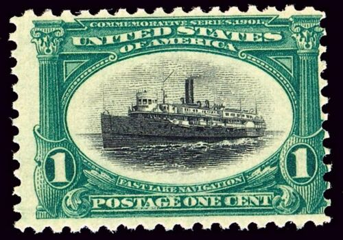 US Postage Stamp PHOTO MAGNET Fast Lake Navigation 1901 issue 1 cent