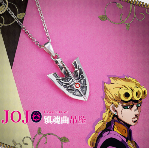 JoJo/'s Bizarre Adventure GIOGIO STAND 925 Silver Insect Arrow Pendant Necklaces