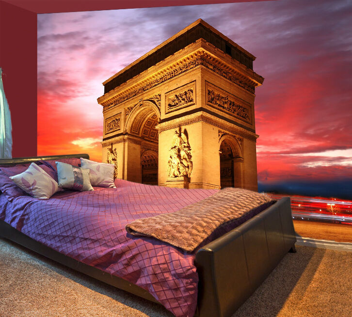 3D Arc de Triomphe 413 WallPaper Murals Wall Print Decal Wall Deco AJ WALLPAPER