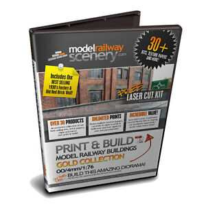 graphic relating to Printable Buildings named Info regarding 30+ OO GAUGE / 1:76 SCALE PRINTABLE Design and style RAILWAY Structures Upon DVD Retailers Partitions
