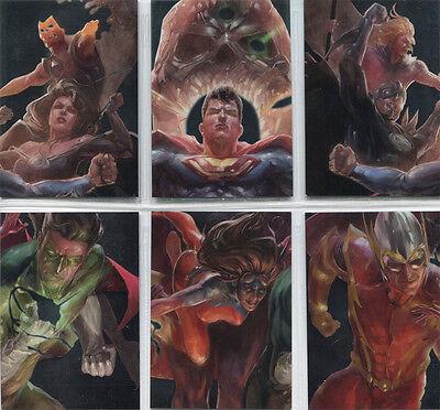 DC Comics Super-Villains Crime Syndicate Silver Foil Parallel 6 Card Chase Set