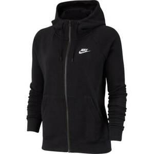 Détails sur Nike Femmes Sport Fitness Kapuzenjacke VesteSweat Essntl à Capuche Fz Fl Noir