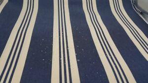 Markisenstoff dunkelblau natur gestreift Outdoorstoff Markisenstoff Meterware 35