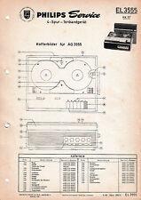 Original Service Manual Philips Tonbandgerät El 3555 Tv, Video & Audio