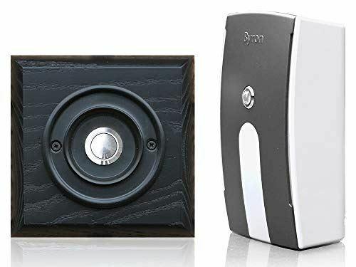 Period Style Push on Black Ash Plinth Black//Chrome Wireless 125m Doorbell Kit