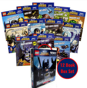 LEGO-DC-Super-Heroes-Box-Set-1-10-Phonics-Readers-2-Workbooks-Superman-Batman