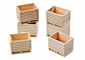 Kartoffelkiste<wbr/>n Holz Kisten für Bauernhof 6 Stück 1:32 NEU OVP