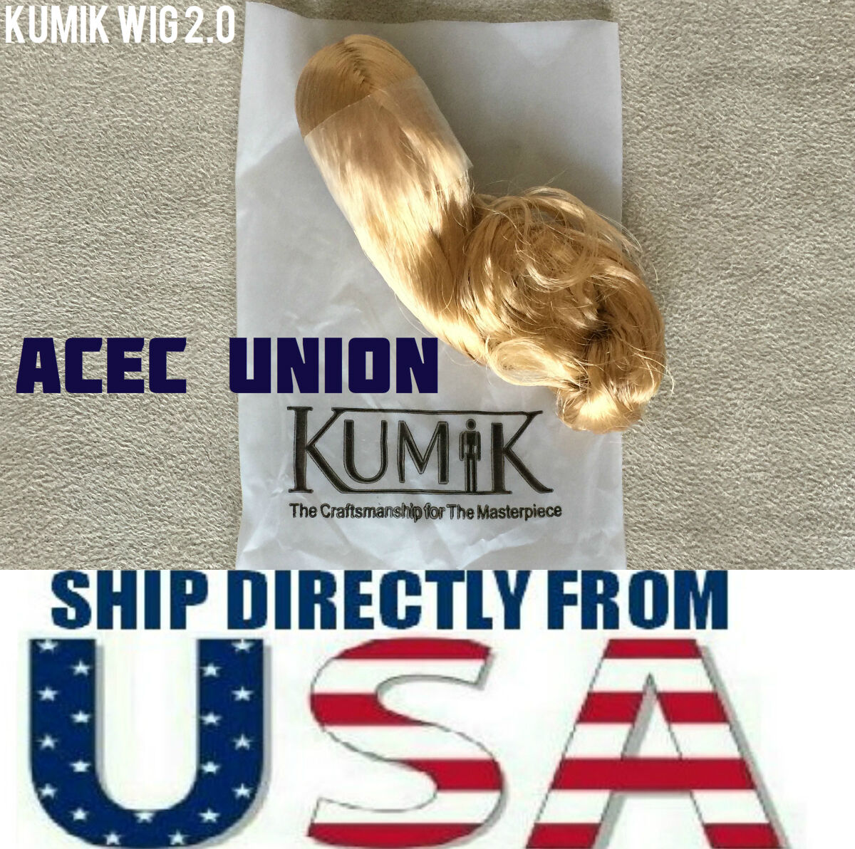 KUMIK 1 6 Female Hair Wig Blonde For 12
