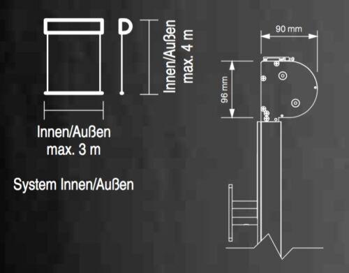 Senkrechtmarkise mit Elektroantrieb Stoffrollo Rollo Sonnenschutz R90 Refleksol