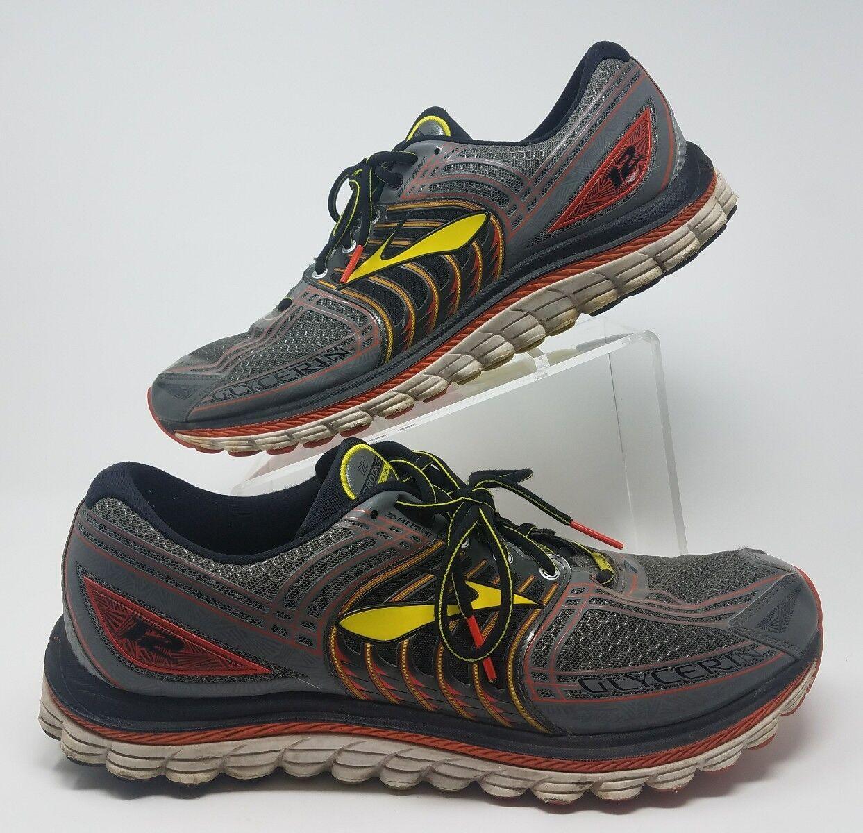 Brooks Glicerina Para hombre 12 Running Zapatos Omni 14 D Omni Zapatos Groove Super ADN Gris Naranja a52866