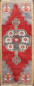 Geometric-Authentic-Oushak-Turkish-Area-Rug-Hand-knotted-Traditional-Carpet-2x4