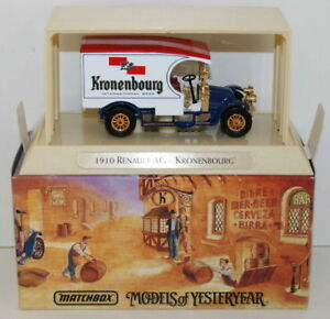 MATCHBOX GREAT BEERS OF THE WORLD YGB07 - 1910 RENAULT AG - KRONENBOURG