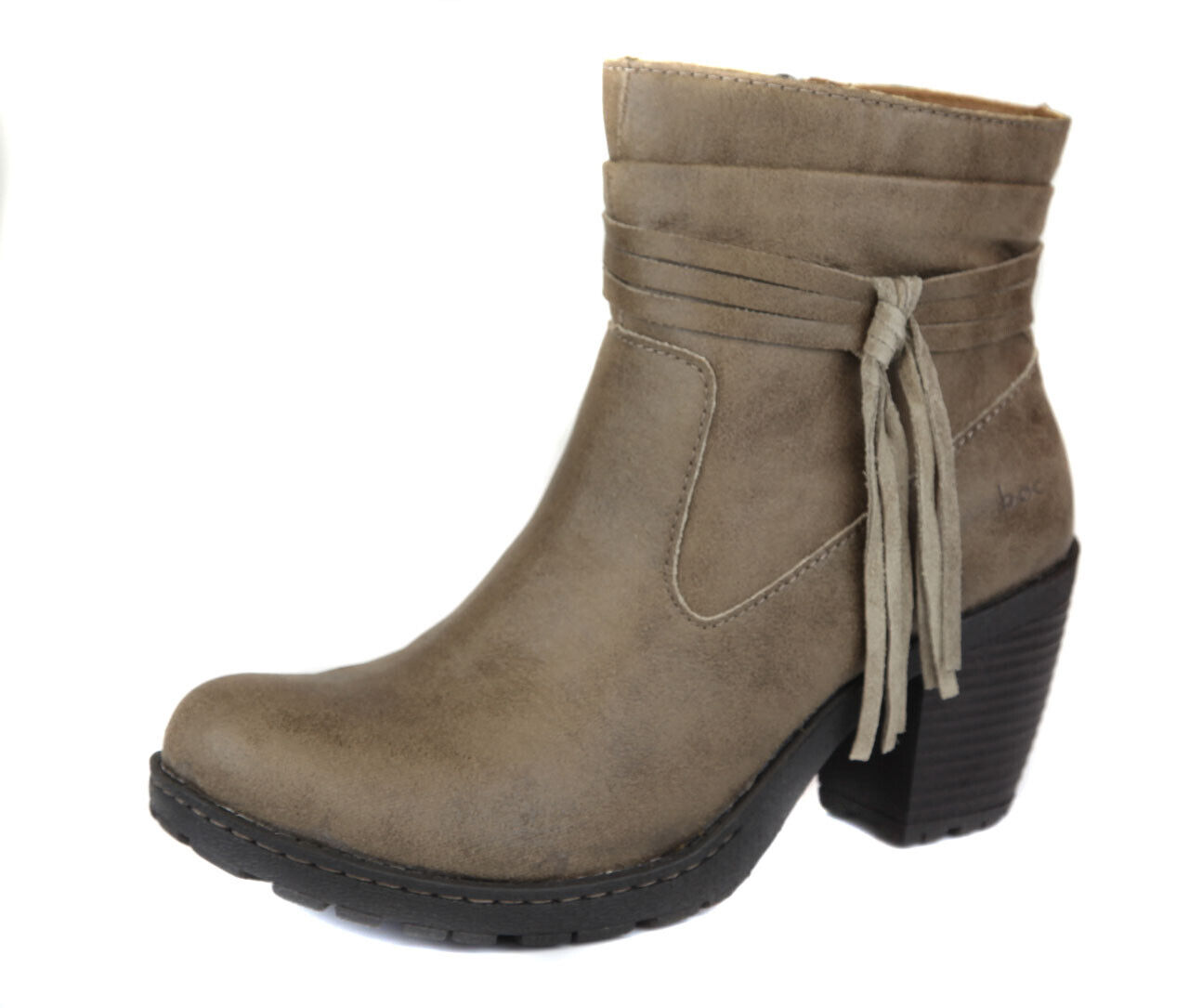 Born Women's Taupe Alicudi Tassle Ankle Bootie Boot shoes Ret  New