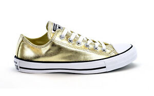 Details about CONVERSE CT AS METALLIC OX LIGHT GOLD 153181C WOMENS SNEAKERS BRAND NEW