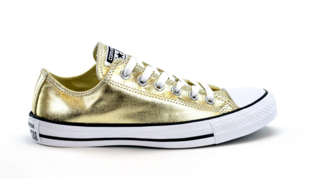 50eccec161c6 CONVERSE CT AS METALLIC OX - LIGHT GOLD - 153181C -WOMENS SNEAKERS - BRAND  NEW