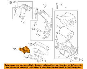 FORD OEM Air Cleaner Intake-Air Duct Tube Hose DA8Z9B659A