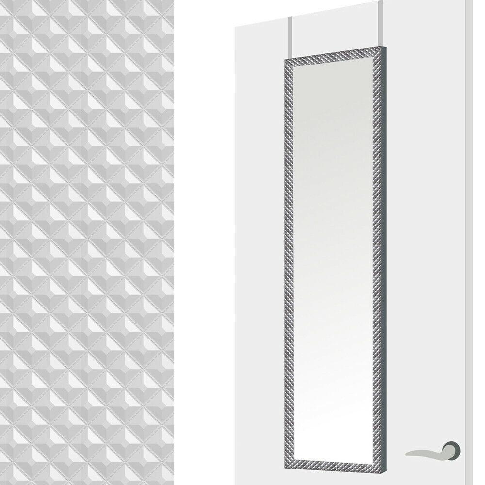 s l1600 - Espejo para Puerta Moderno, Plateado con diseño Geométrico, para Dormitorio, sin