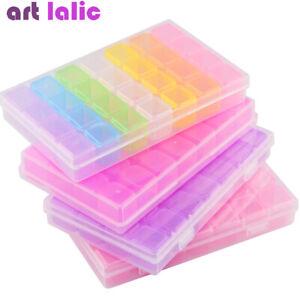 28-Slots-Nail-Art-Glitter-Rhinestones-Jewelry-Storage-Case-Box-Container-Holder